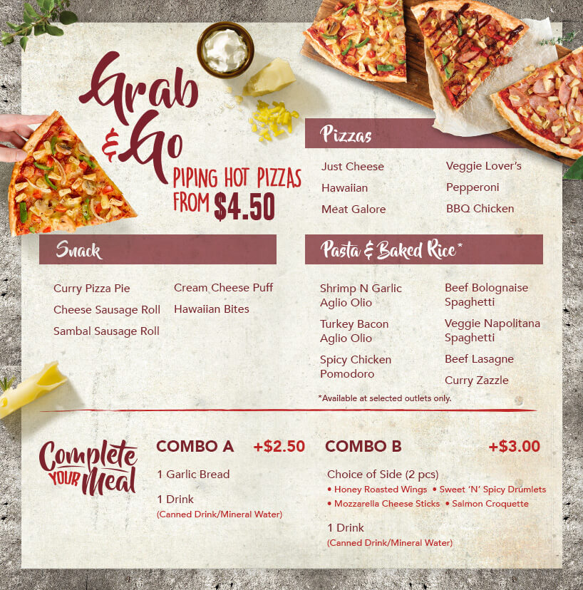 photograph about Pizza Hut Menu Printable named Convey Menu Pizza Hut Singapore