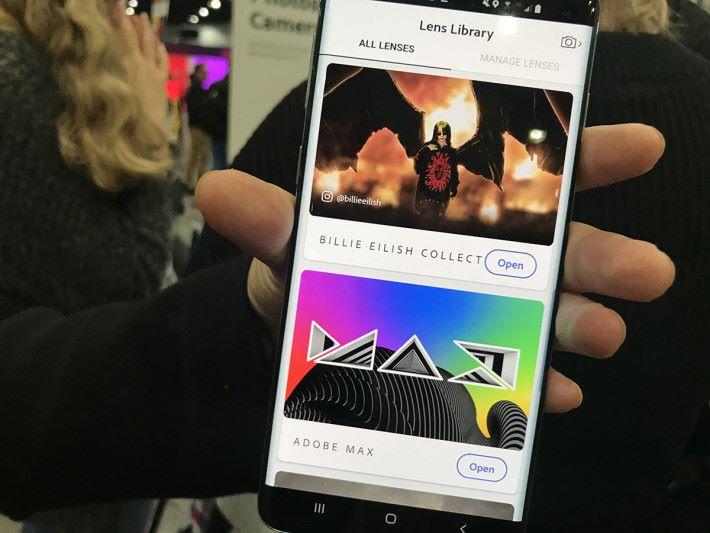 歌手 Billie Eilish 率先為 Photoshop Camera 加入自有 Lenses。