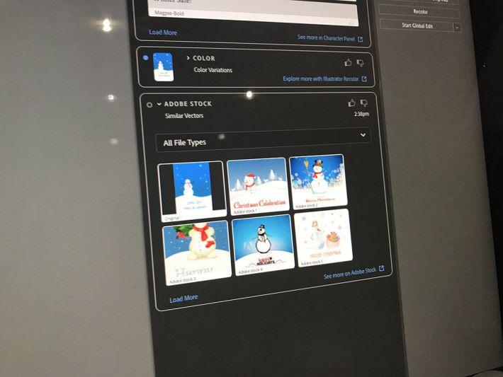 配合 Adobe Stock,可以即時找出圖似的圖片使用。