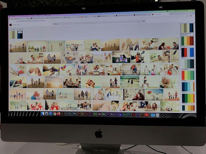 另外透過 Sansai 亦可以掌握相片庫中的相片色調,從而從顏色出發,選擇最給心意的相片。