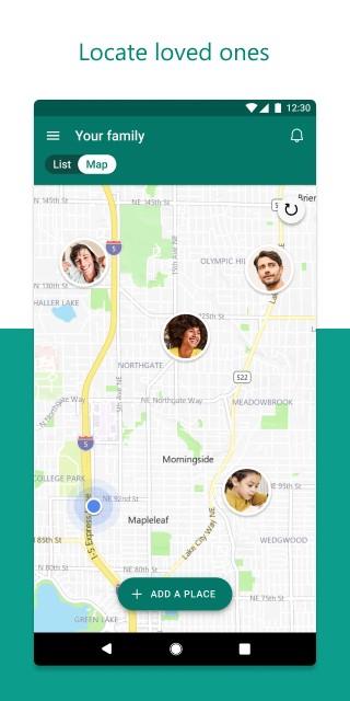 Microsoft Family Safety 位置分享