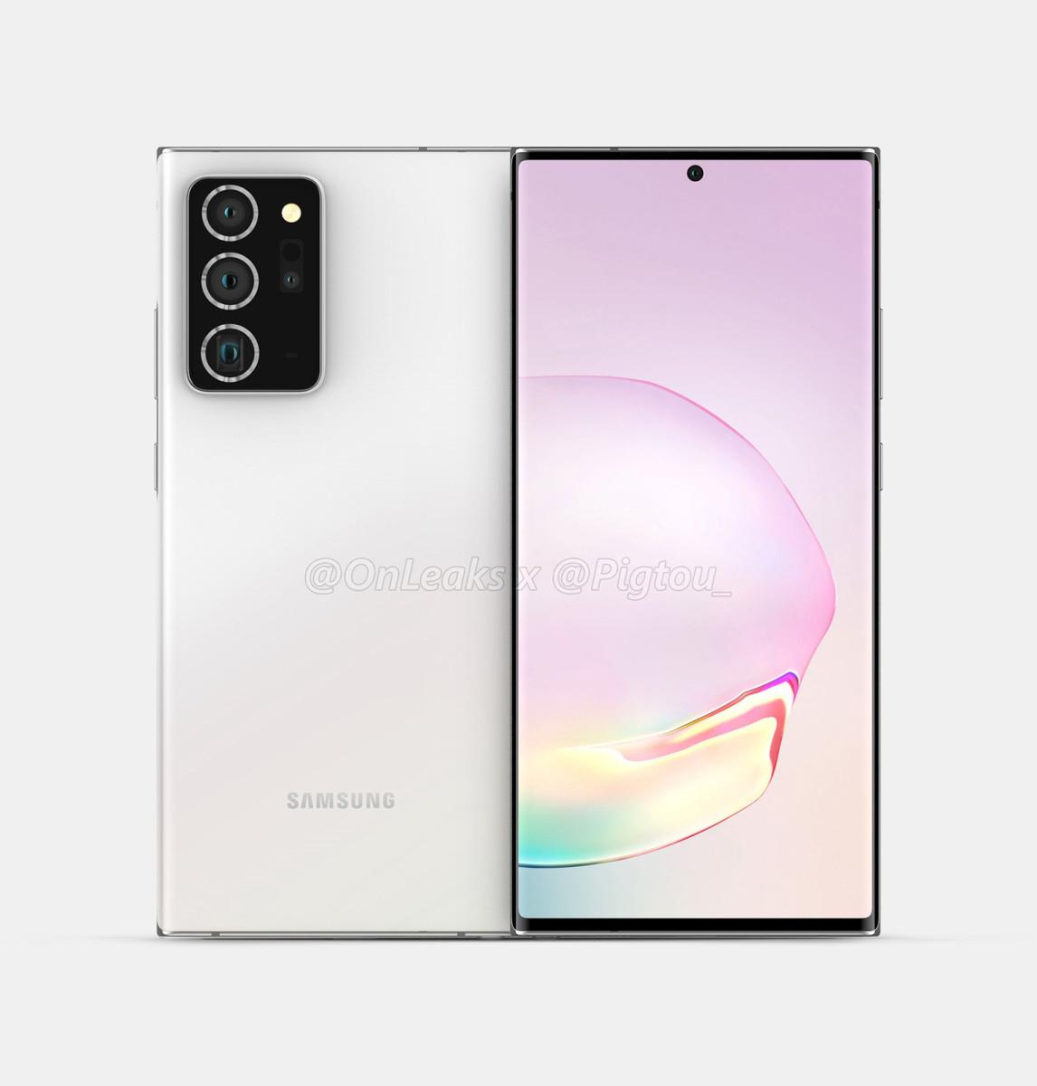 據稱 Galaxy Note 20+ 為 165mm x77.2mm x7.6mm,比現時 Galaxy Note10+ 稍薄但會修長一點,亦與 Galaxy S20 Ultra 體積相近。