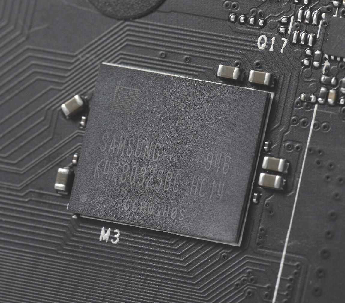 採用4 顆1GB Samsung GDDR6記憶體。