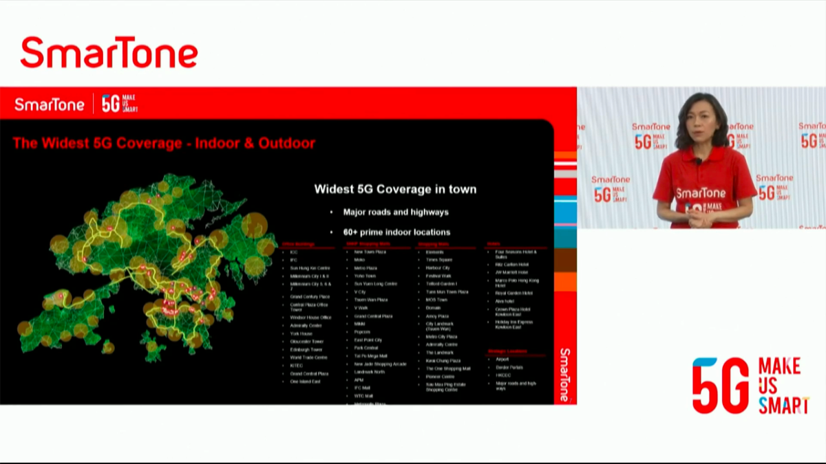 SmarTone 今日啟動 5G 網絡,初期達 70% 覆蓋。