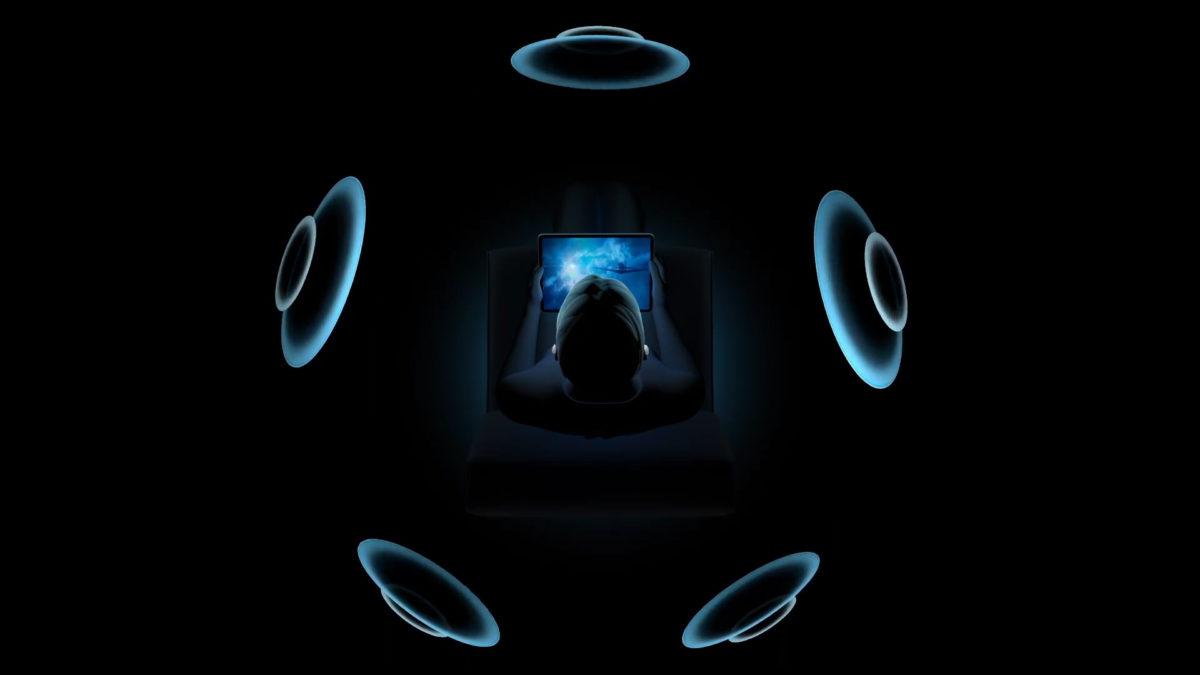 正常時候,聲音會從屏幕的正面傳來,並配合其他聲道營造出環繞聲音效果