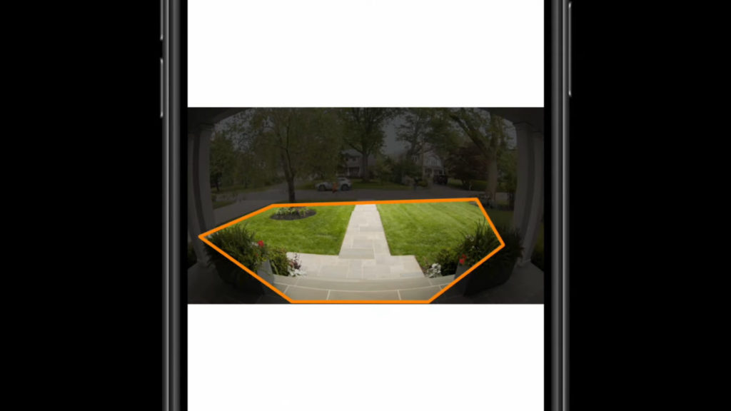 用戶可以在 IP cam 中設定監視範圍