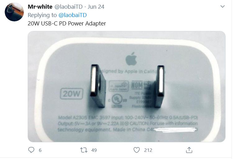 消息指 iPhone 12 系列會全面改用 20W 快速充電器