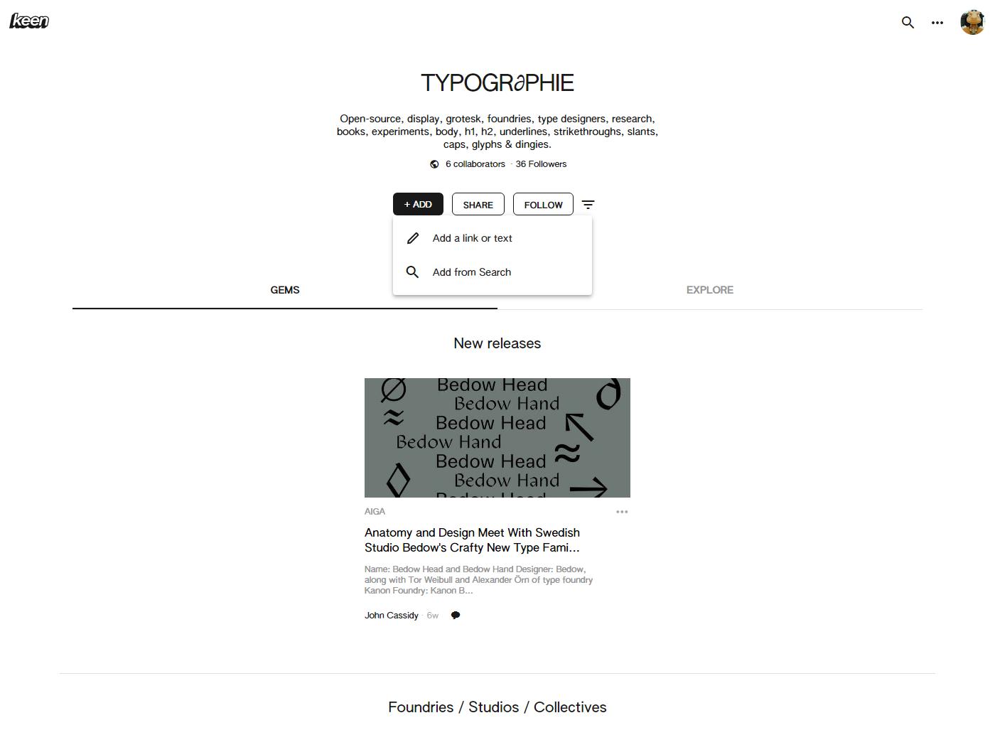 Keen 網站介面簡潔,一如 Google 風格。