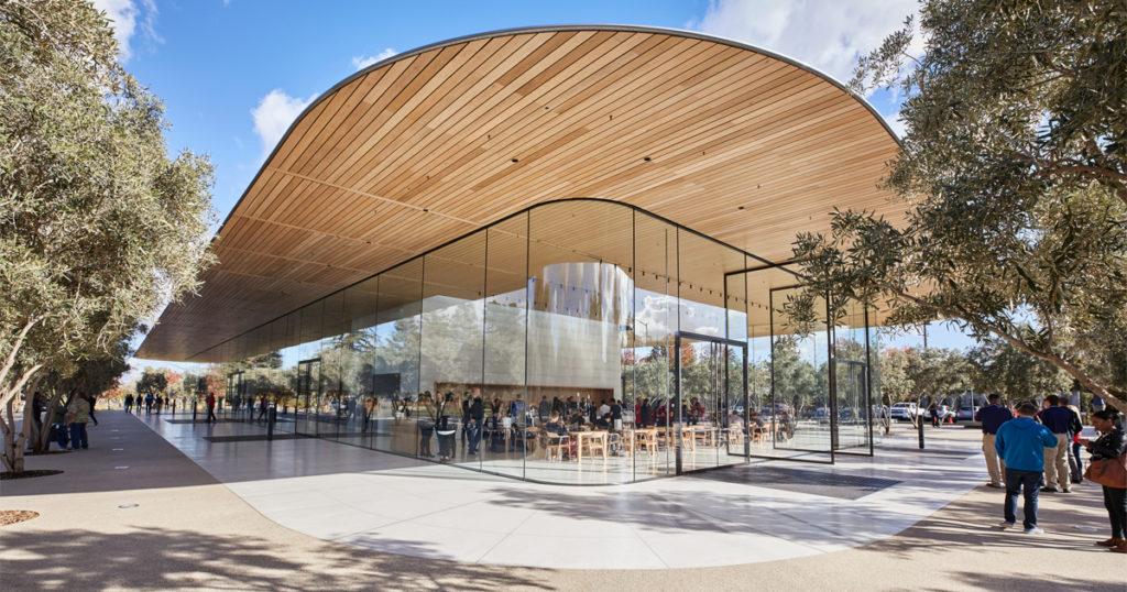 Apple park 訪客中心。