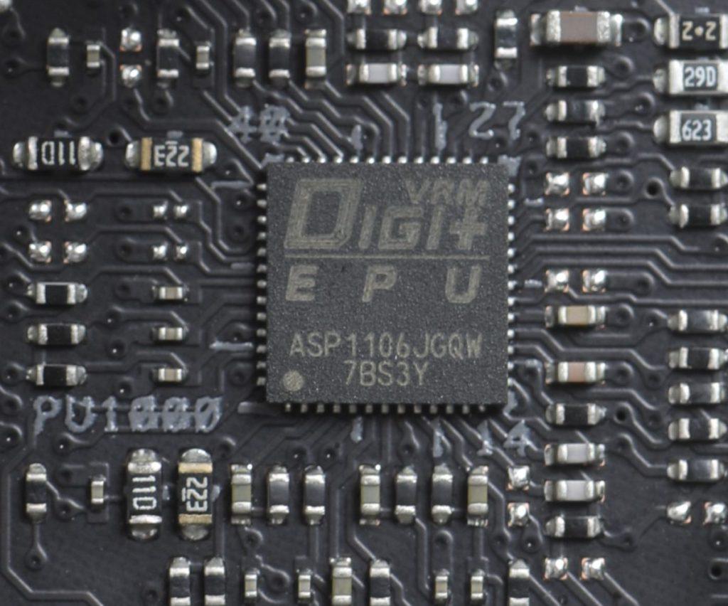 CPU 供電採用具 DIGI+ EPU 節電功能的控制晶片