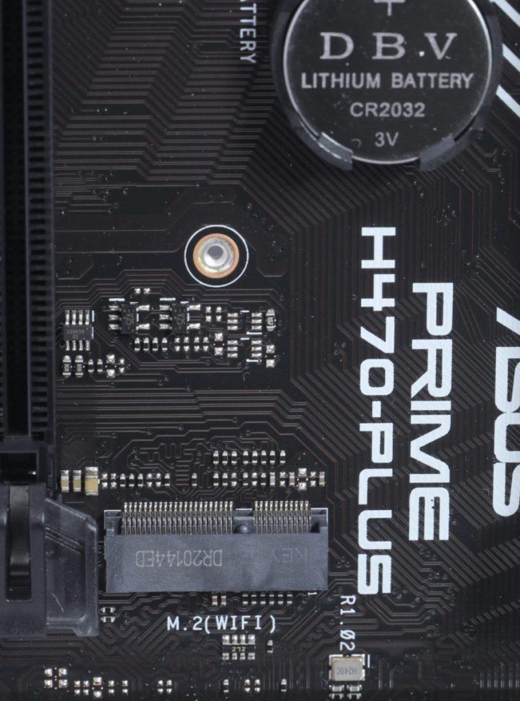 晶片組整合了Intel Wi-Fi 6 AX201 功能,所以板上有安裝Wi-Fi模組的 M.2(Key-E)Socket。