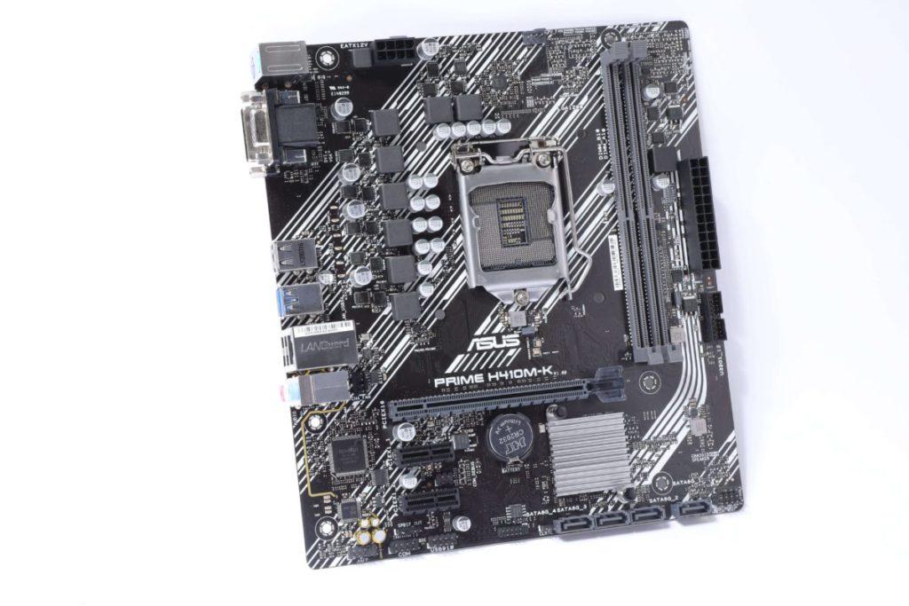 ASUS Prime H410M-K 全貌。