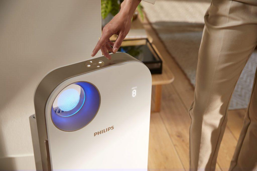 Philips 4500i 設計簡約細緻,四色燈能代表空氣質素的變化