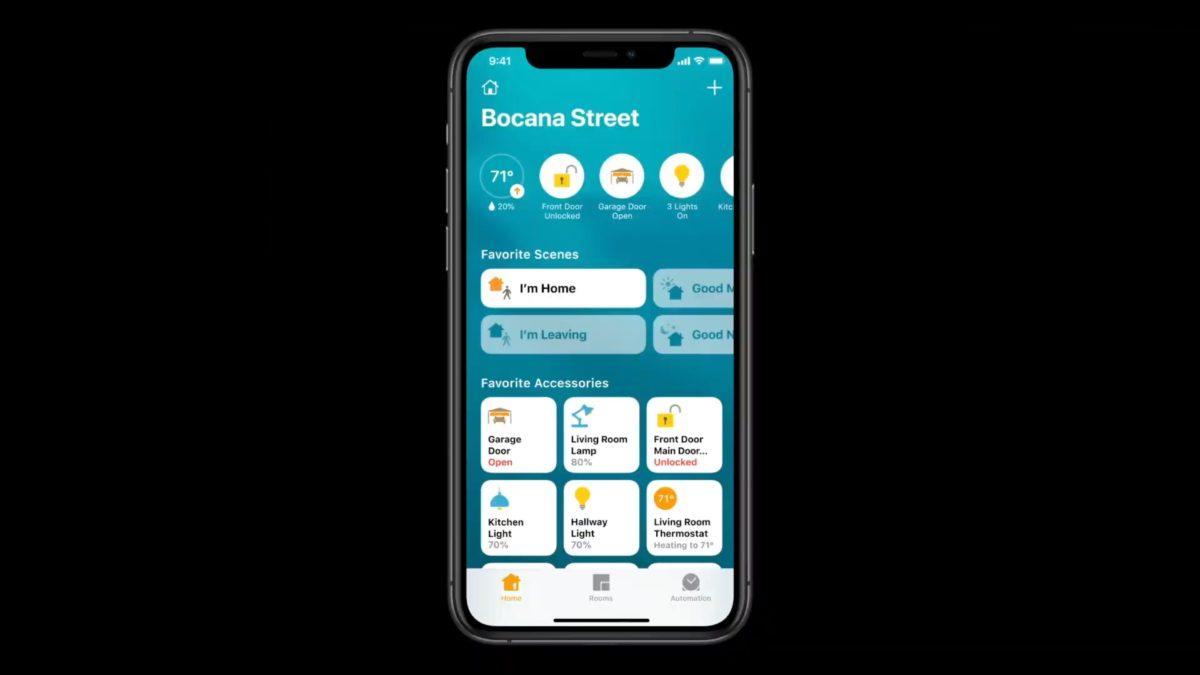 Home App 首頁頂部列出家居裝置的現時狀態,讓你了解有沒有忘了鎖門關燈等。