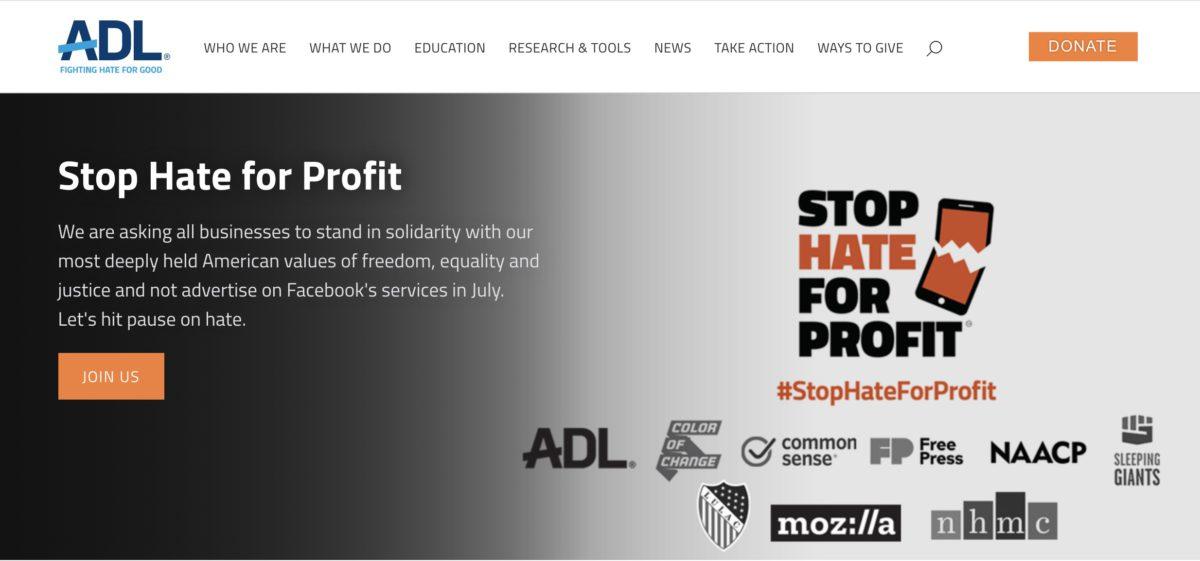 全美最大的猶太人非政府組織 ADL 聯同 6 個組織向企業發出公開信,請求企業最低限度在整個 7 月杯葛 Facebook 的服務。
