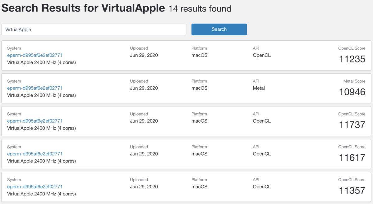 相比起 CPU 跑分,Rosetta 2 環境下 GPU 跑分就與 iPad Pro ( 2 代)差不多。