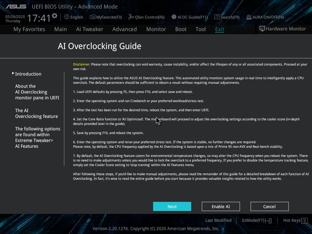 也有ASUS特別開發的AI超頻功能。