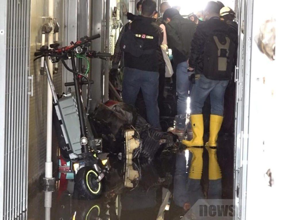 今年 2 月就有一宗因為電動滑板車起火而造成傷亡的火警 (圖片來源 : RTHK)