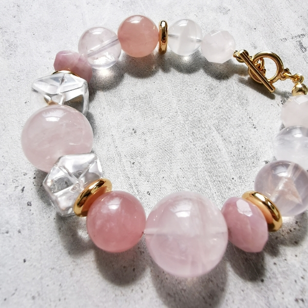 Chunky Gemstone Beaded Bracelet1