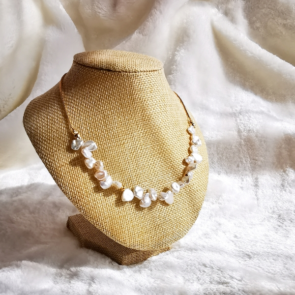 Fresh Water Pearls Adjustable Chain Necklace
