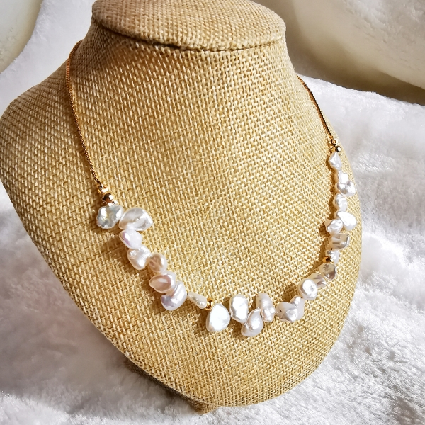 Fresh Water Pearl Adjustable Necklace0