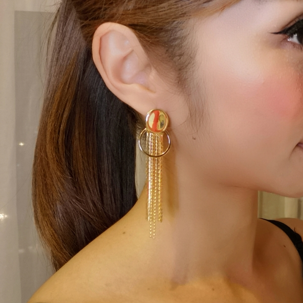 Gold Plated Tassel Earring