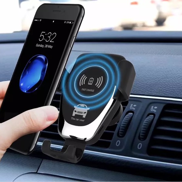 Car Wireless Charger With Gravity Control Lock 0