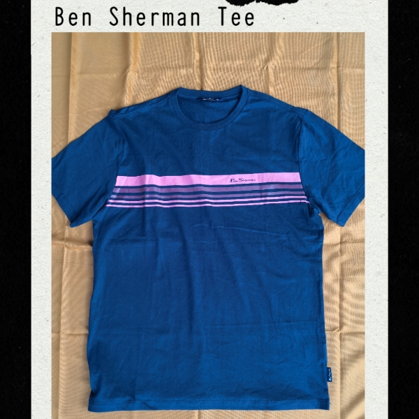 Ben Sherman Tee Navy  *Missing Size Label