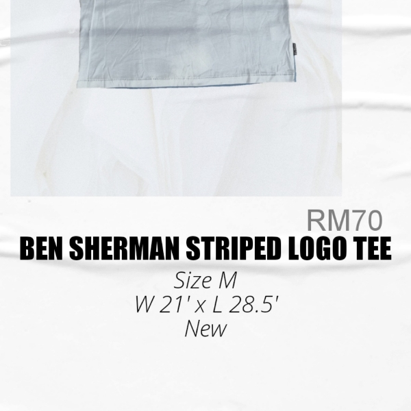 Ben Sherman Striped Logo Tee M1