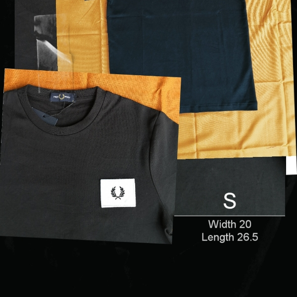 Fred Perry Acid Bright Black Tee1