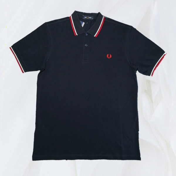Fred Perry Ss20 Twin Tipped Dark Navy Blue