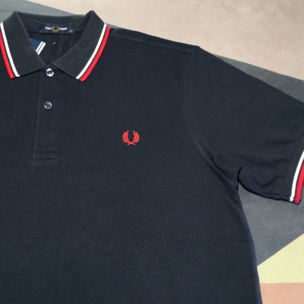 Fred Perry Ss20 Twin Tipped Dark Navy Blue1