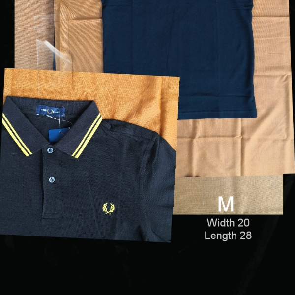 Fred Perry Twin Tipped Polo Black Yellow1