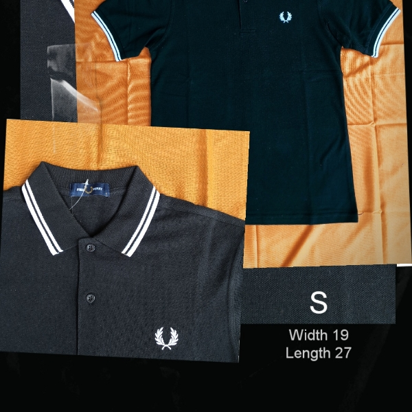 Fred Perry Twin Tipped Polo Black White1