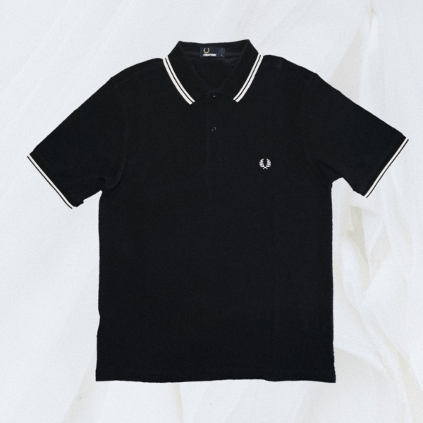 Fred Perry Twin Tipped Black White L