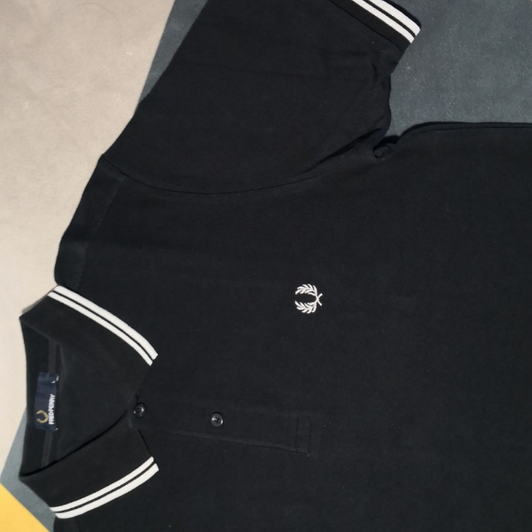 Fred Perry Twin Tipped Black White L1