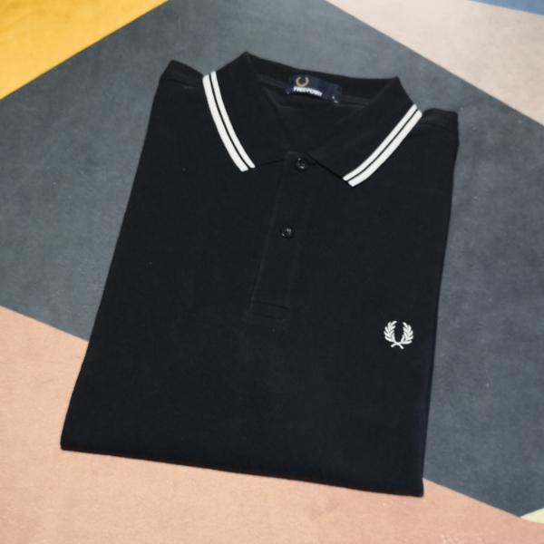 Fred Perry Twin Tipped Black White L2
