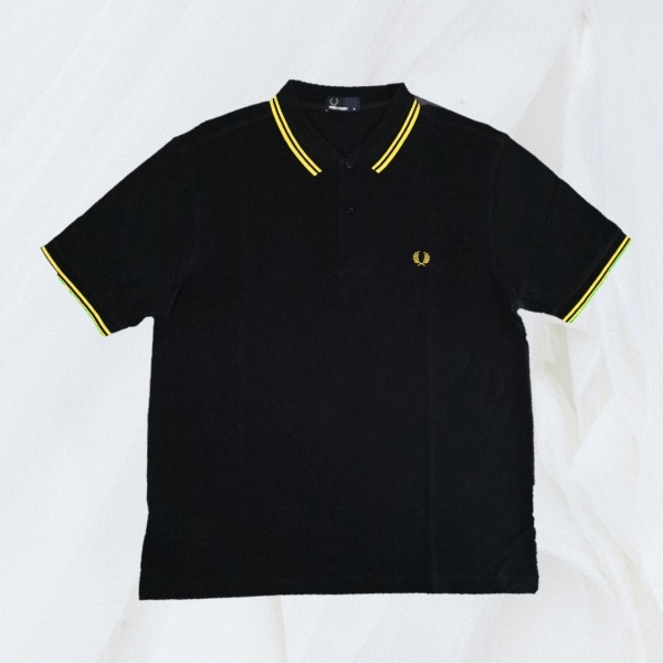Fred Perry Twin Tipped Black Yellow XL