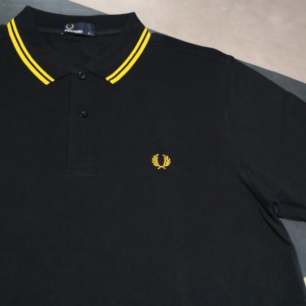 Fred Perry Twin Tipped Black Yellow XL1