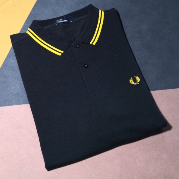Fred Perry Twin Tipped Black Yellow XL2