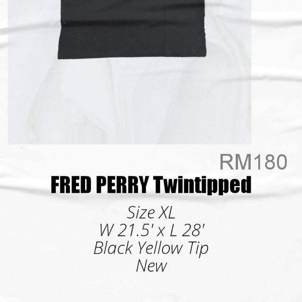 Fred Perry Twin Tipped Black Yellow XL3