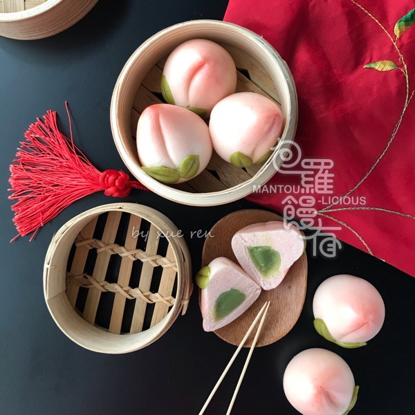 14/3 3D Longevity Peach Baby and Traditional Peach Steamed Bun2
