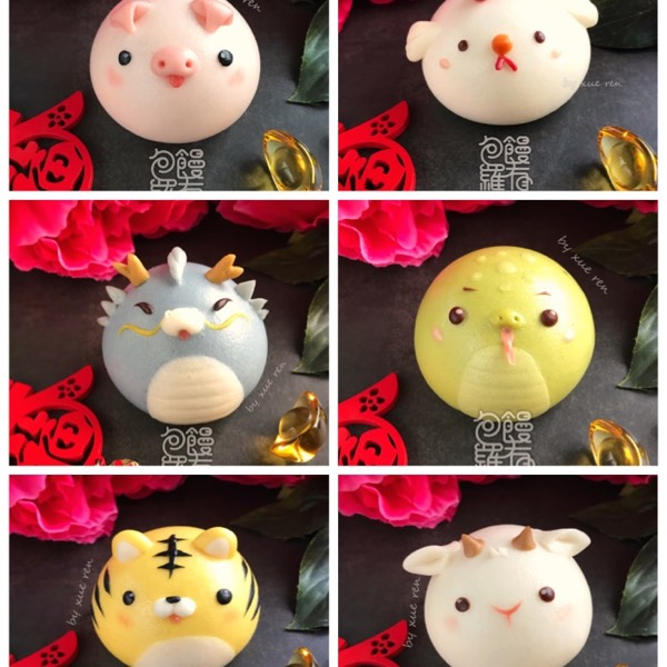 6+6 Chinese Zodiac Animal Steamed Bun Hand-on Class (10/01/20)2