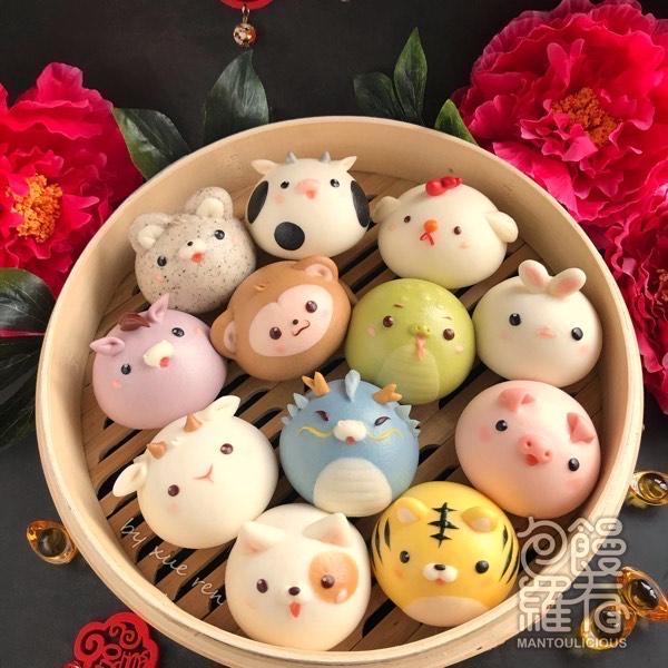 Online Class 6+6 Chinese Zodiac Animal Steamed Bun0