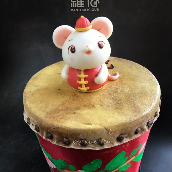 Prosperity 3D Mouse & Flowers Drum Steamed Bun Hand-on Class1