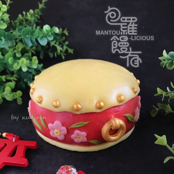 Prosperity 3D Mouse & Flowers Drum Steamed Bun Hand-on Class2