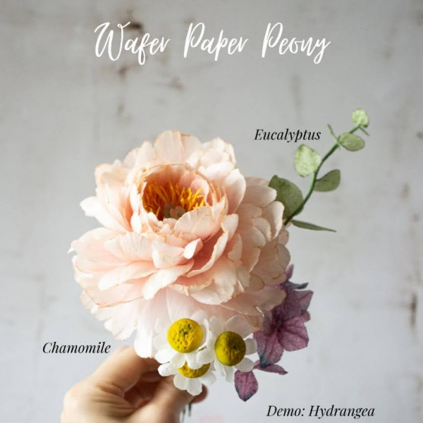 Wafer Flowers Workshop: Peony