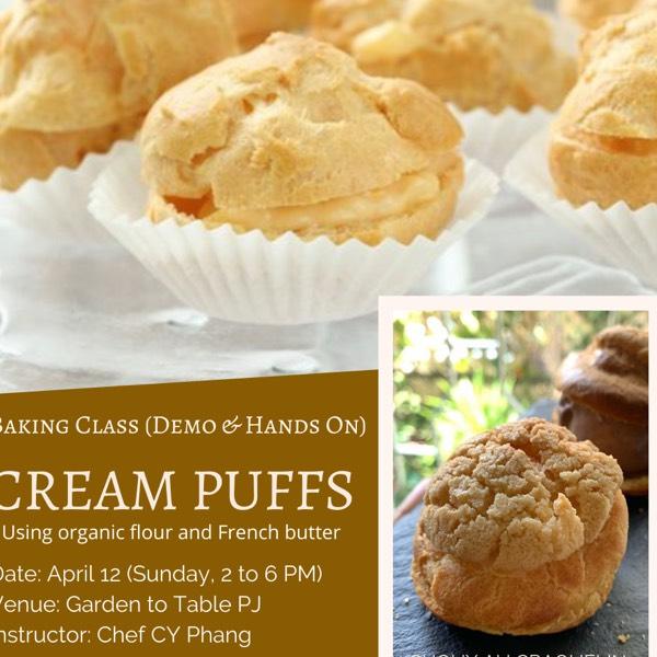 Baking Class: Cream Puffs (Choux au Craquelin)0