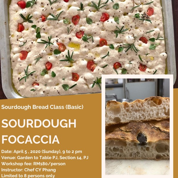 Sourdough Bread Class (Basic): Focaccia0