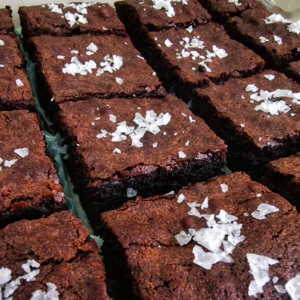 Ultimate Fudgy Sea Salt Brownies0